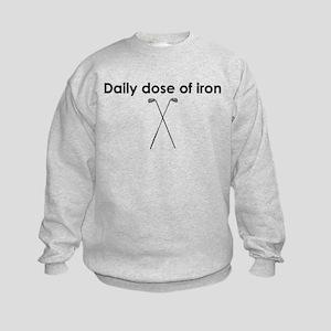 daily dose of iron Kids Sweatshirt
