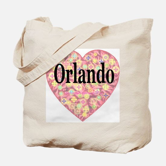 Orlando Starburst Heart Tote Bag