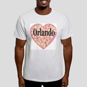 Orlando Starburst Heart Ash Grey T-Shirt