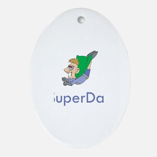 SuperDan Oval Ornament