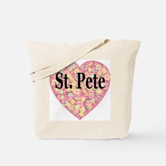 St. Pete Starburst Heart Tote Bag