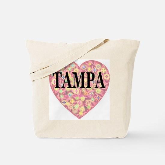 Tampa Starburst Heart Tote Bag