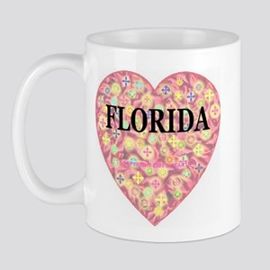Florida Starburst Heart Mug