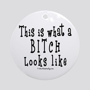 This is What a BITCH Looks Li Ornament (Round)