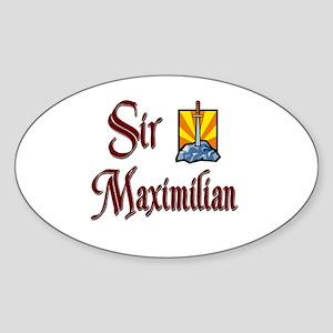 Sir Maximilian Oval Sticker