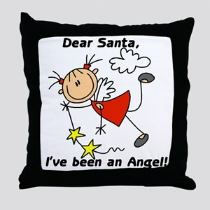 Dear Santa Holiday Throw Pillow