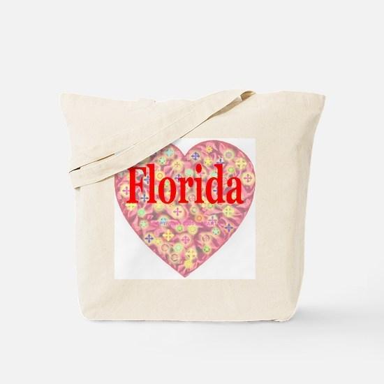 Florida Red Hot Starburst Hea Tote Bag