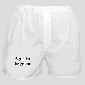 Agustin the groom Boxer Shorts