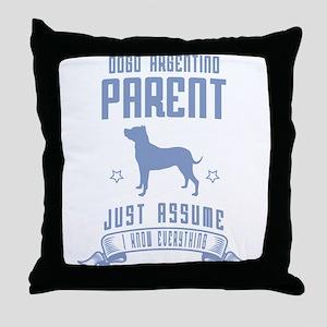 Dogo Argentino Throw Pillow