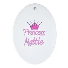 Princess Mattie Oval Ornament