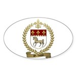 ST. LOUIS Family Crest Oval Sticker