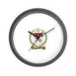 ST. LOUIS Family Crest Wall Clock