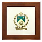 ST. PIERRE Family Crest Framed Tile