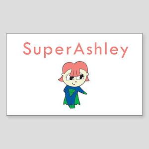 SuperAshley Rectangle Sticker