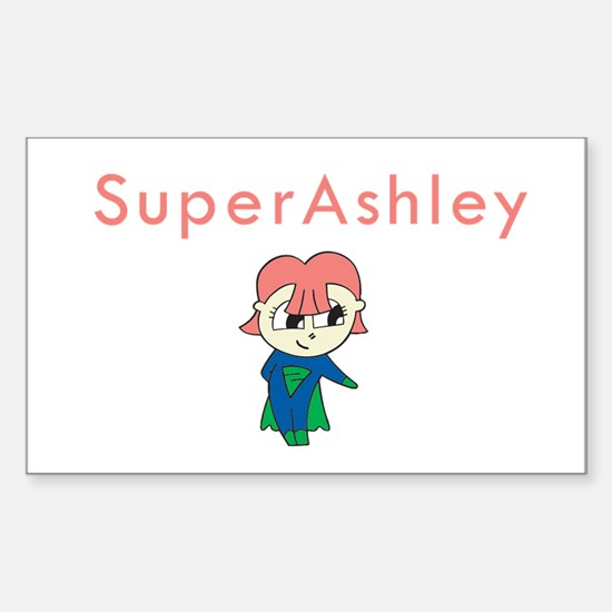 SuperAshley Rectangle Decal