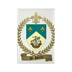 ST. PIERRE Family Crest Rectangle Magnet (100 pack