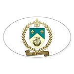 ST. PIERRE Family Crest Oval Sticker