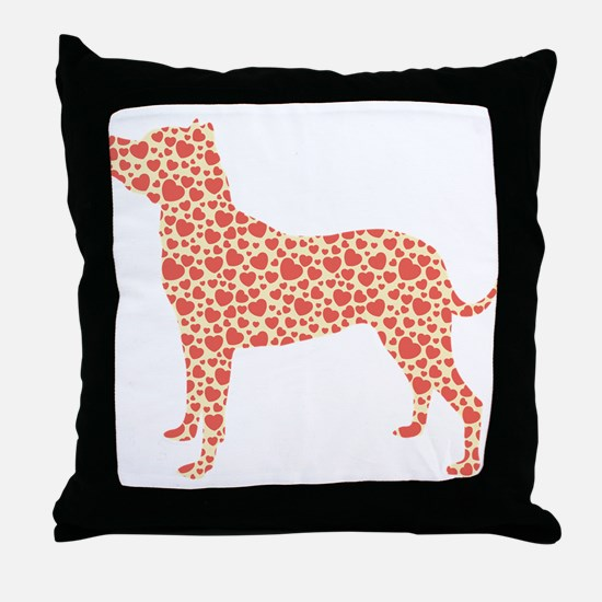 Dogo Argentino Throw Pillow