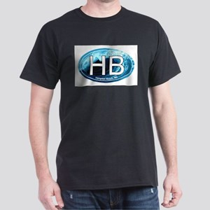 HB Hampton Beach, NH Wave Oval T-Shirt