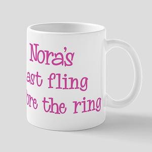 Noras last fling Mug