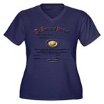 new baby Women's Plus Size V-Neck Dark T-Shirt