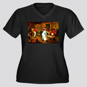 The Wedding Women's Plus Size V-Neck Dark T-Shirt