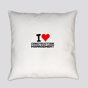 I Love Construction Management Everyday Pillow