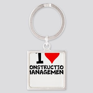 I Love Construction Management Keychains