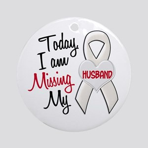 Missing My Husband 1 PEARL Ornament (Round)
