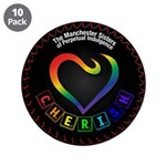 """Cherish The Manchester 3.5"""" Button (10 Pack)"""