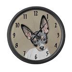 Rat Terrier Large Wall Clock
