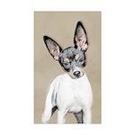 Rat Terrier Sticker (Rectangle 50 pk)