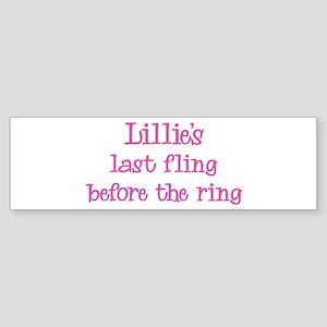 Lillies last fling Bumper Sticker
