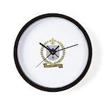 TANGUAY Family Crest Wall Clock