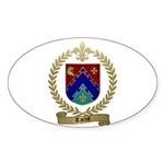 TARDIF Family Crest Oval Sticker