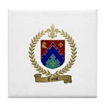 TARDIF Family Crest Tile Coaster
