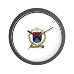 TARDIF Family Crest Wall Clock