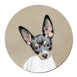 Rat Terrier Round Car Magnet