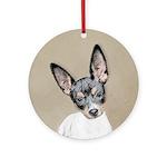Rat Terrier Round Ornament