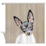 Rat Terrier Shower Curtain