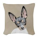 Rat Terrier Woven Throw Pillow