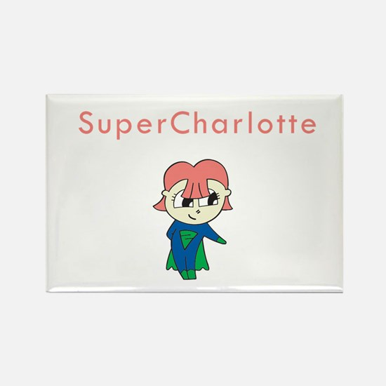 SuperCharlotte Rectangle Magnet