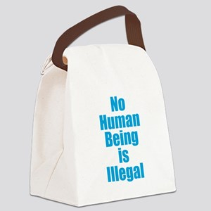No Human Being is Illegal Canvas Lunch Bag