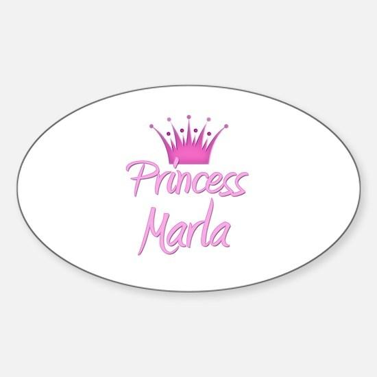 Princess Marla Oval Decal