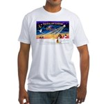 XmasSunrise/Collie (s&w)#1 Fitted T-Shirt
