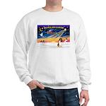 XmasSunrise/Collie (s&w)#1 Sweatshirt