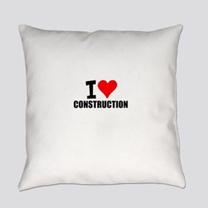 I Love Construction Everyday Pillow