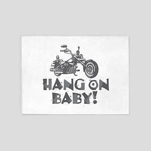 Hang On Baby 5'x7'Area Rug