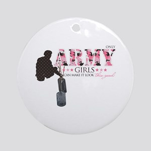 Army Girls (Make It Look Good) Ornament (Round)