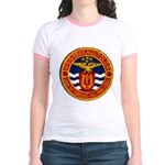 USS FARRAGUT Jr. Ringer T-Shirt